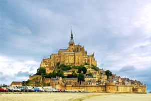 Mont Saint Michel i Normandie